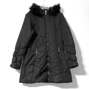 Maralyn & Me Black Hooded Puffer Jacket Size L